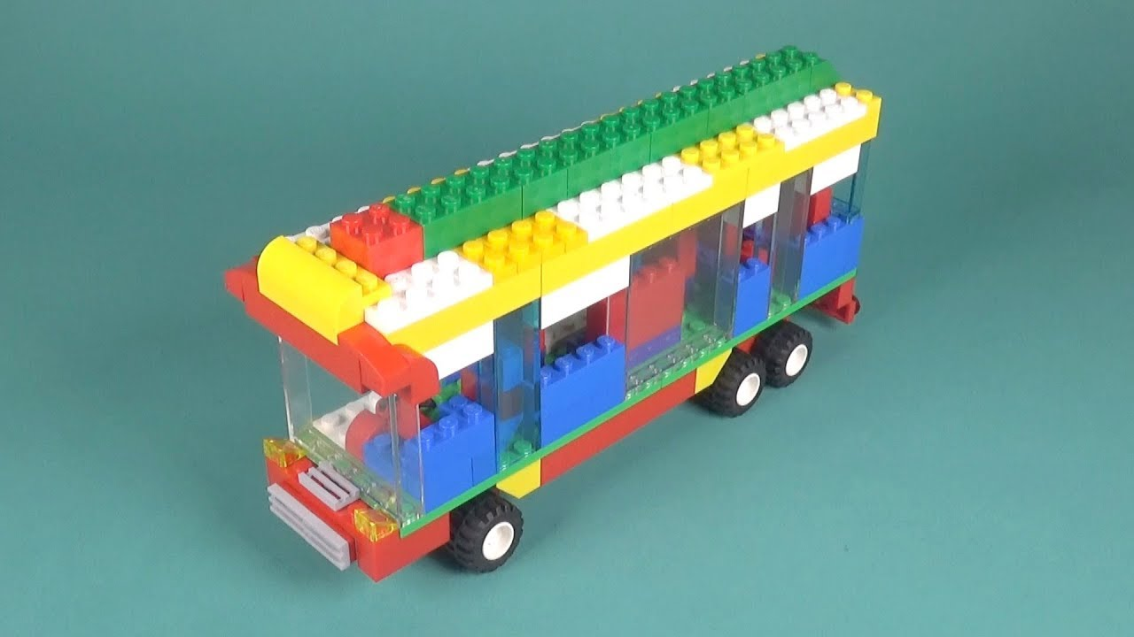 Lego Bus (004) Building Instructions - LEGO Classic How To Build - DIY