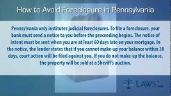 How to stop foreclosure in Pennsylvania