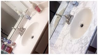From Blahh to Voilaaaa! ONLY $7 Bathroom Makeover!|| Affordable