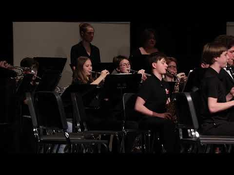 The Tri North Middle School Band performs at Band-O-Rama 2020