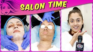 Aditi Sharma REVEALS Her Beauty Secrets And Pampers Herself In Salon Time | TellyMasala | Kaleerein