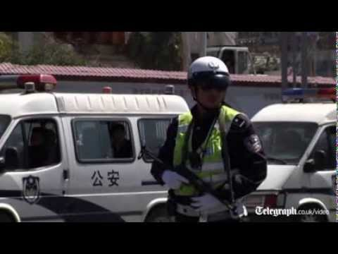 Aftermath of China train station mass stabbing