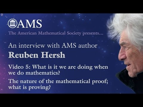 a biography of reuben hersh a mathematician However, philip j davis, reuben hersh, imre lakatos, philip kitcher, paul ernest and tom tymoczko and some other philosophers challenged the paradigm of absolute truth.
