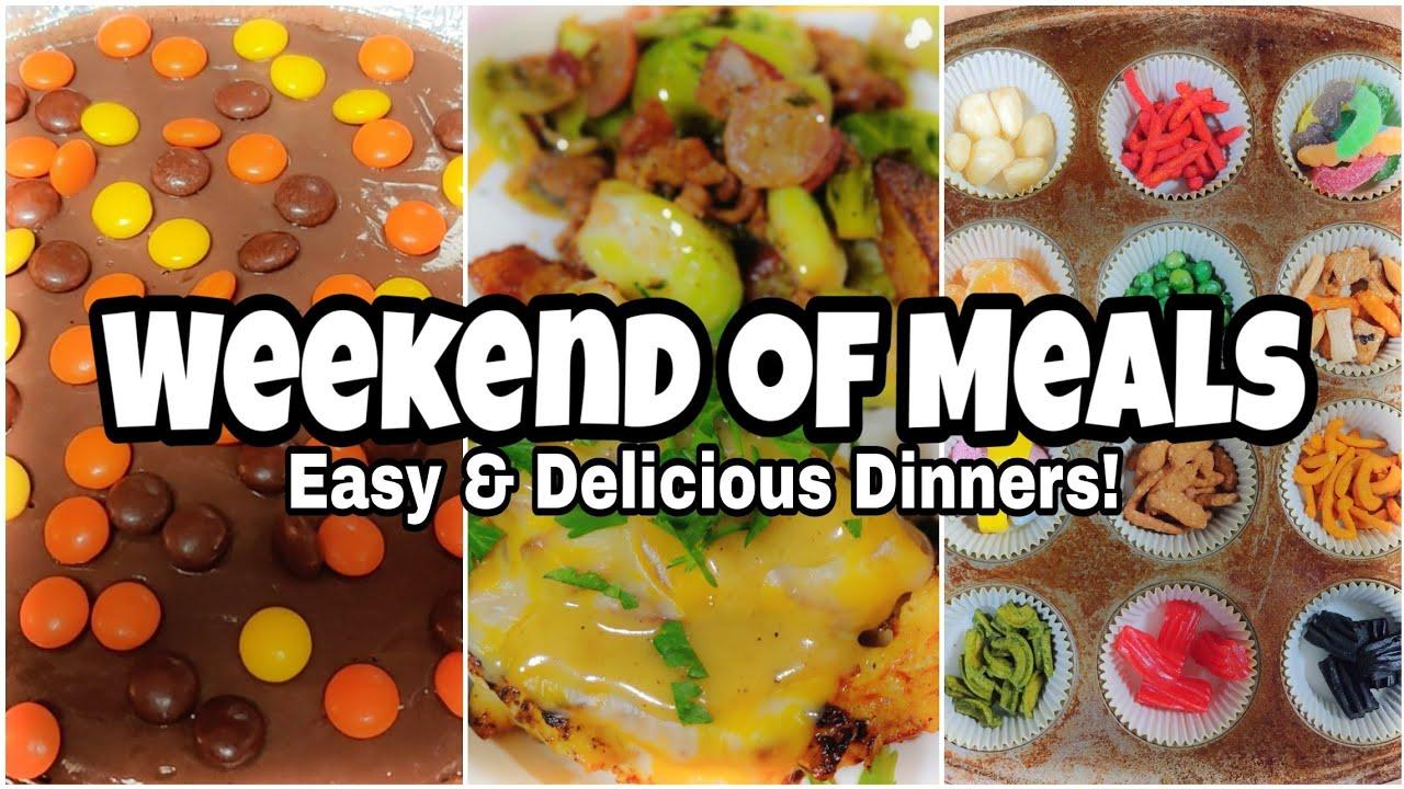Weekend of Meals | Budget Dinner Ideas | Taste Testing Nutstop Snacks!