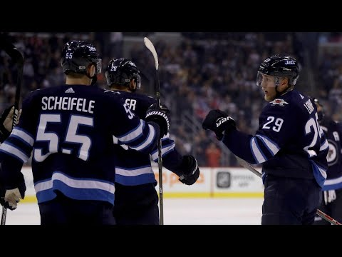 Laine blasts in a one-time for first of the pre-season