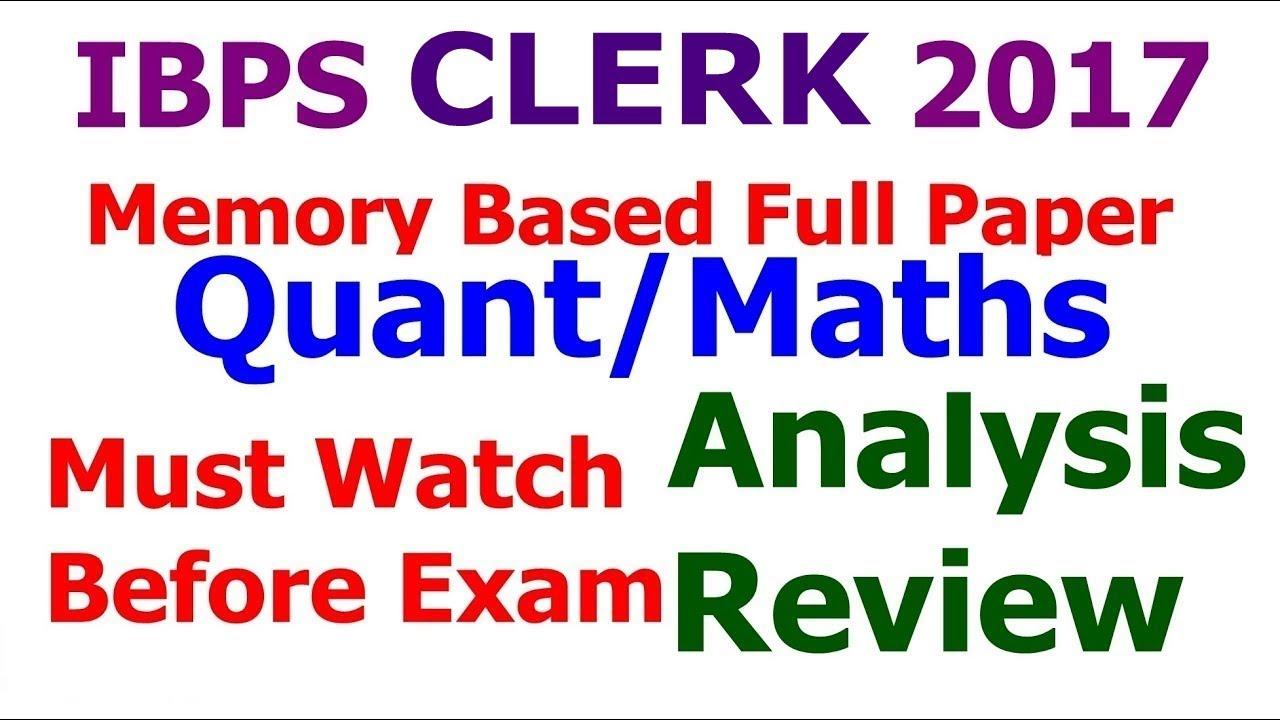 Clerk solved paper pdf ibps