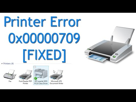 Fix Printer Error 0x00000709