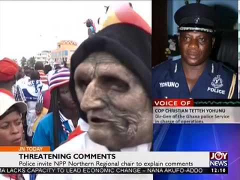 Threatening Comments - Joy News today (21-10-16)