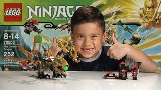 THE GOLDEN DRAGON - LEGO NINJAGO Set 70503 - Time-lapse Build, Unboxing & Review