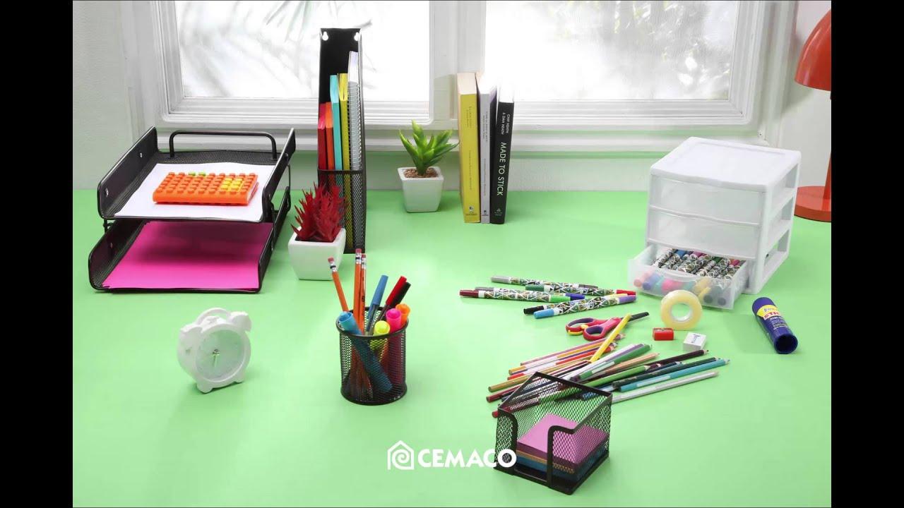 C mo organizar tu escritorio youtube for Como decorar mi escritorio de trabajo