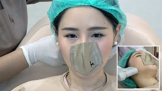 Beauty Clinic Using Strange Mini Face Masks