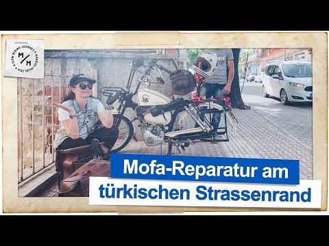 Mofa-Reparatur am türkischen Strassenrand | Mit dem Mofa um die Welt