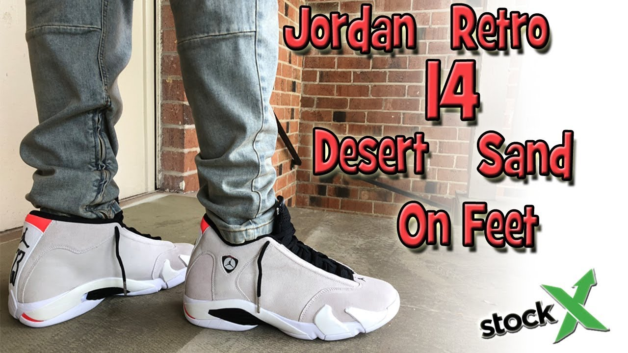 82abc6c38c75 Early Look at Jordan Retro Desert Sand 14 On Feet - YouTube