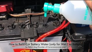 How to Refill Car Battery Water in 2 Minutes (Asian Version)