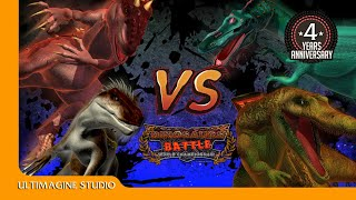 Spino And Baryonyx VS I Rex And Indoraptor  : Dinosaurs Battle Special