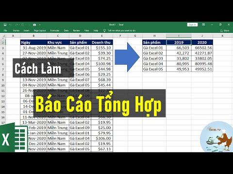 Cách làm báo cáo tổng hợp đơn giản trong Excel