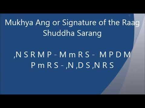 Shuddha Sarang (राग शुद्ध-सारंग) Raag Description राग परिचय