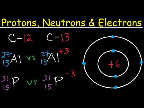 Protons Neutrons Electrons Isotopes - Average Mass Number & Atomic Structure - Atoms vs Ions