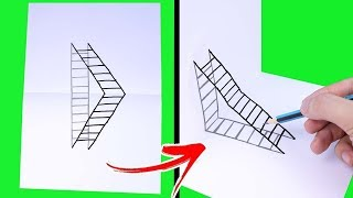 3D DRAWING TRICKS || AWESOME DRAWING TUTORIAL