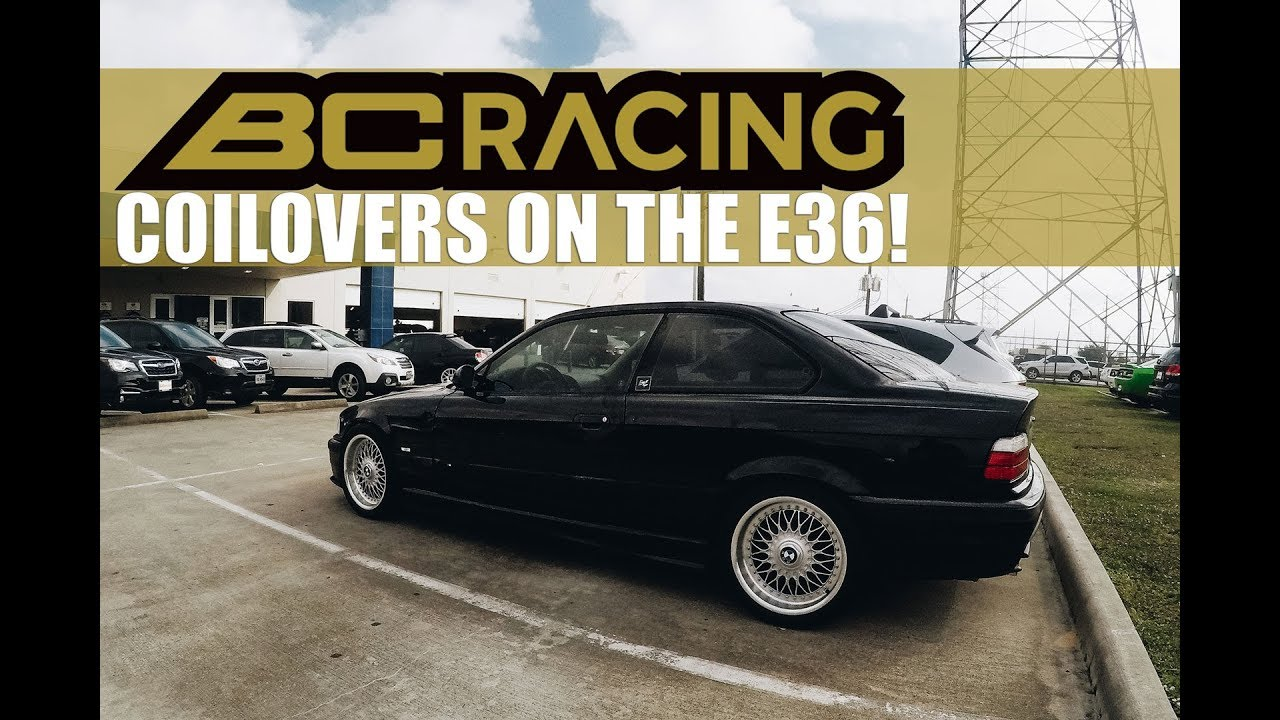 THE E36 GETS BC RACING COILOVERS