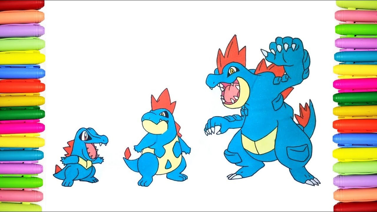 Pokemon Coloring Pages Totodile
