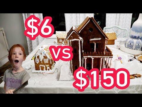 $6 VS $150 Gingerbread House