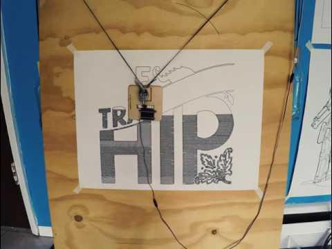 Makleangelo draws Tragically Hip logo (timelapse robot art)