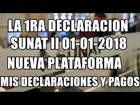 NUEVO METODO MIS DECLARACIONES Y PAGOS IGV RTA MENSUAL SUNAT II VIGENCIA 01-01-2018