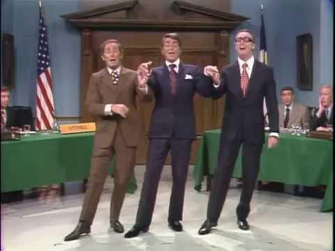 Dean Martin, Joey Bishop, Howard Cosell & Dick Martin  WaterfenceLittle Tin Box