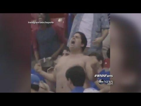 Louisiana Tech Fan Rips Off Shirt Hulk-Style