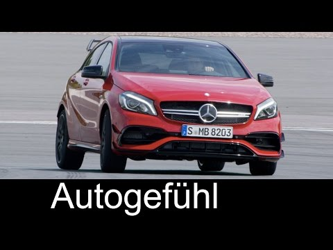 Mercedes-AMG A45 & A-Class A250 Motorsport A-Klasse 2016 Exterior Interior Driving preview