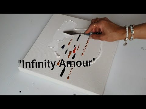 """""""INFINITY AMOUR / Abstract Painting Demo for beginners / Easy Abstract / Easy and Relaxing / Acrylic"""