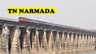 WAP4 Tamil Nadu Cruises Narmada River Bridge