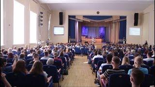 Встреча ректора ГрГУ имени Янки Купалы с первокурсниками