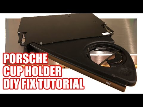 Porsche 911 / Boxster Cup Holder Disassembly + Reassembly DIY Tutorial
