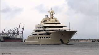 Mega Yacht DILBAR | Weser höhe Brake Unterweser nach Lemwerder