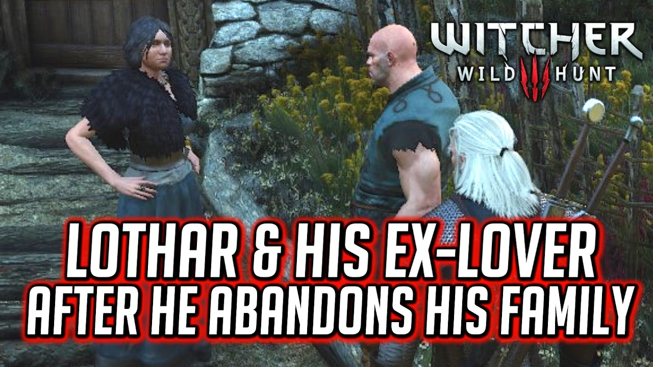 Witcher 3 Lothar Jonna S Short Dialogue After He S Forced To Abandon His Wife And Son Youtube