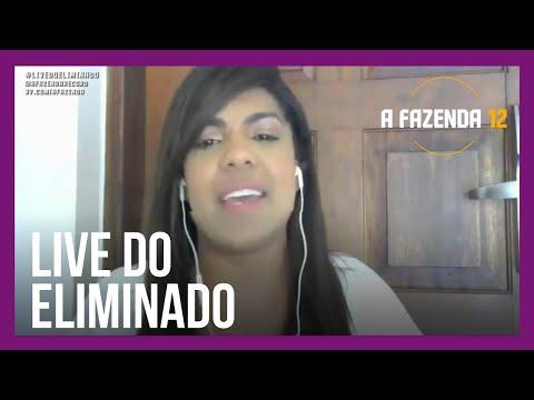 #LiveDoEliminado   Tays Reis admite ciúmes de Mirella em A Fazenda 12
