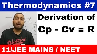 Thermodynaimcs 07 || Derivation Of Cp - Cv = R , Mayer's Relation Important For School Exams ||