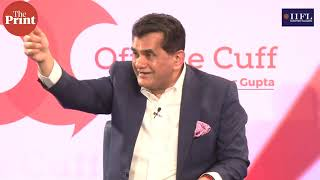 Job creation is happening in MSME sector and not big companies: Amitabh Kant at #ThePrintOTC