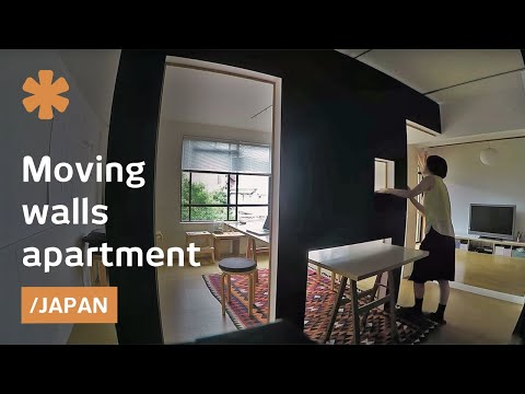 Switch flat Tokyo: mobile walls transform home into office