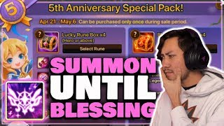 I SPENT $500 TO POP MY BLESSING   5TH ANNIVERSARY PACK   Summoners War