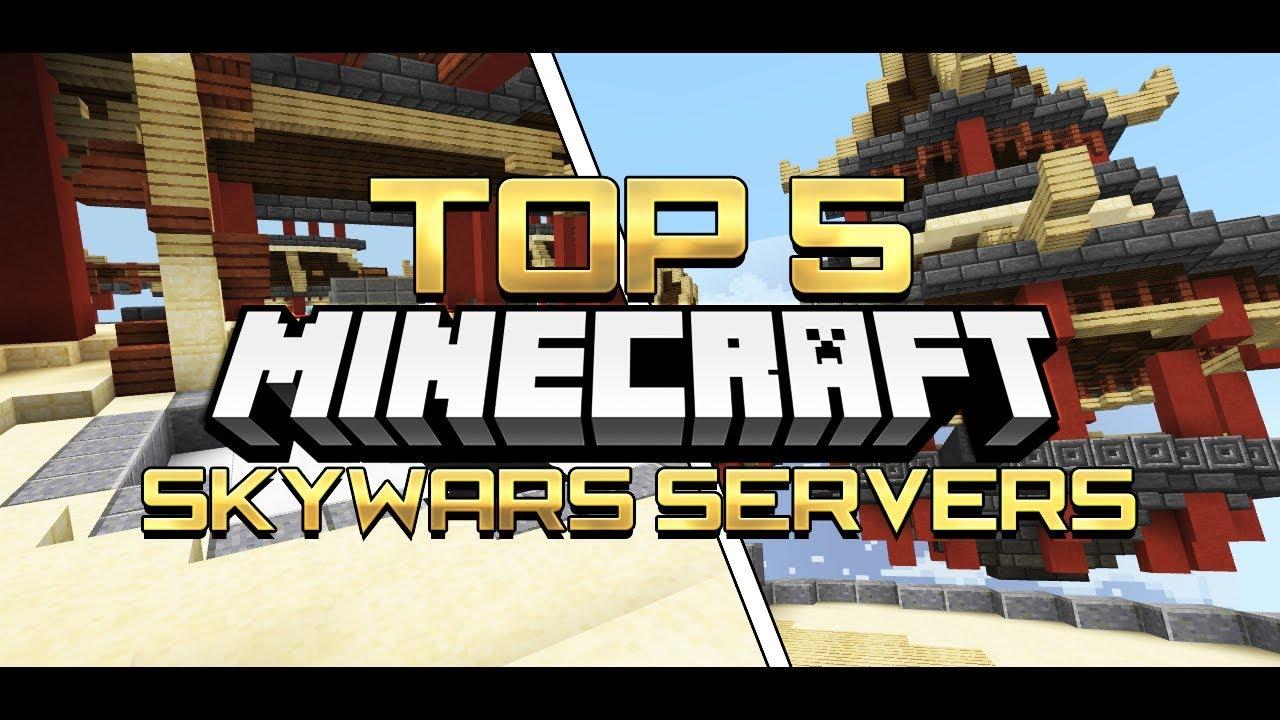 [1 2 10+] TOP 5 SKYWARS SERVERS in Minecraft! [Pocket Edition, Xbox, Win10]