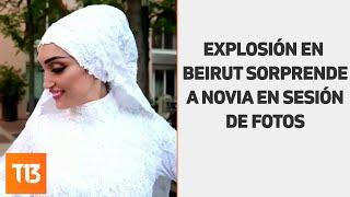 VIDEO La explosión en Beirut sorprendió a una novia en plena sesión de fotos