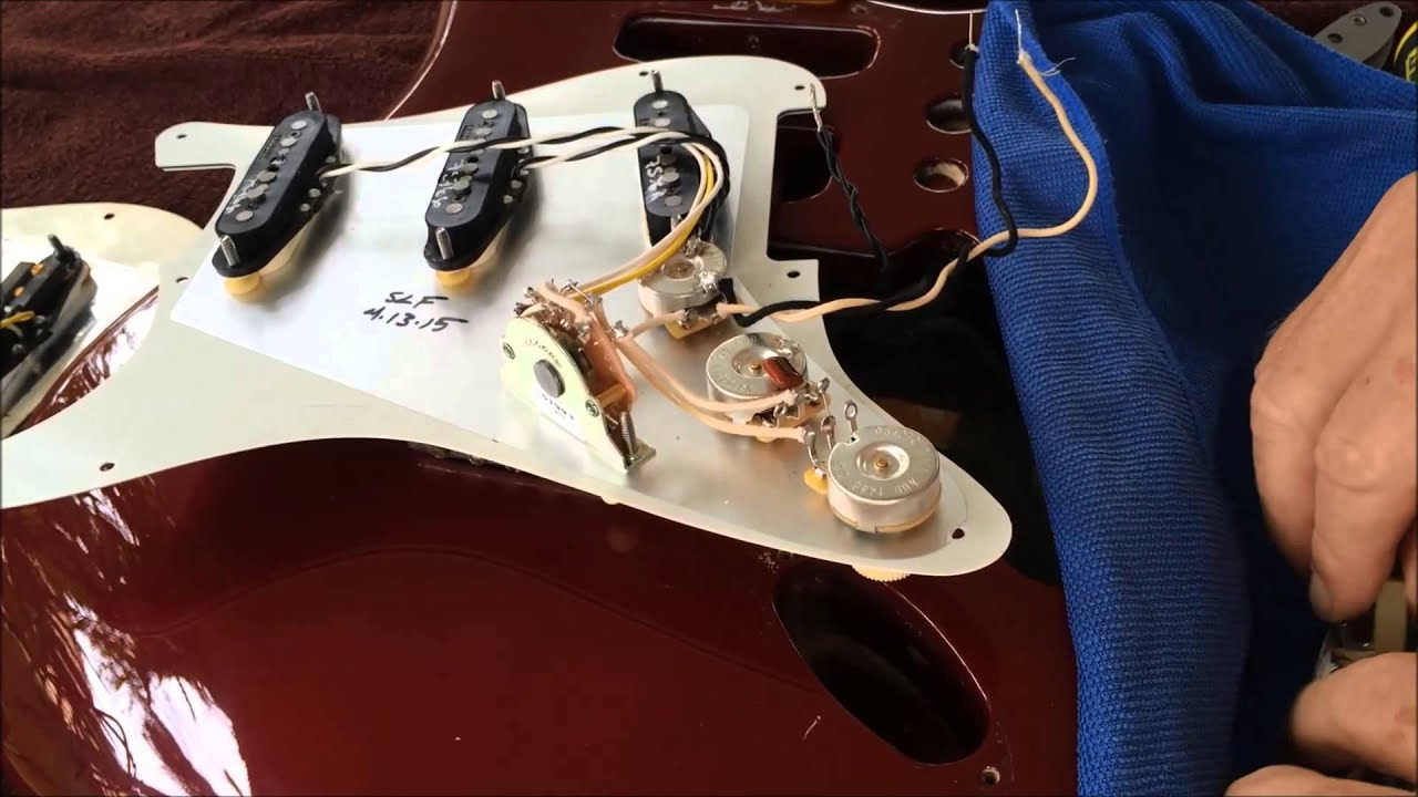 Fender Bass Vi Wiring Diagram Installing A Loaded Pickup Guard On A Fender Strat Youtube