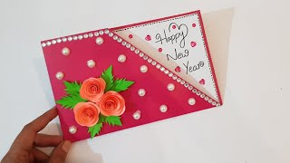 Happy New Year 2020 card idea for best friend handmade greeting card