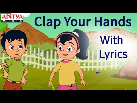 Clap Your Hands with Lyrics || Popular English Nursery Rhymes for Kids