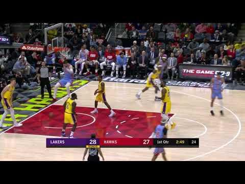 2nd Quarter, One Box Video: Atlanta Hawks vs. Los Angeles Lakers