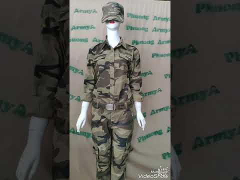 Quần áo Thời Trang Lính Nữ - Mẫu Bộ Sơ Mi