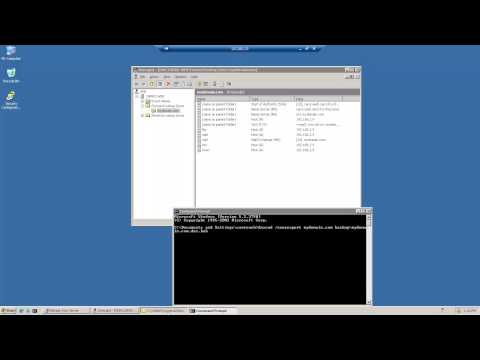 Windows 2003 Server - Install DNS Tools - Backup And Restore DNS Through Command Prompt Pt2
